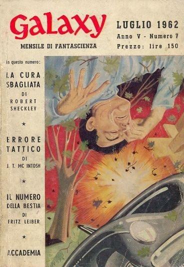 La rivista Galaxy, numero di Luglio 1962
