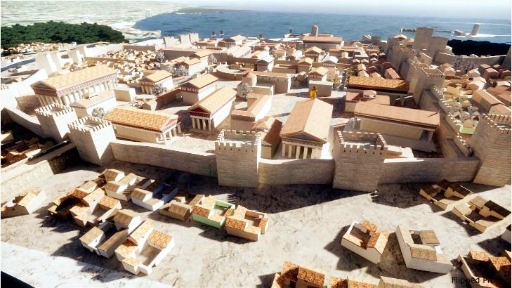 Ricostruzione 3D dell'area extra moenia di Neapolis adibita a necropoli - Image by Marco Mellace | Flipped Prof.