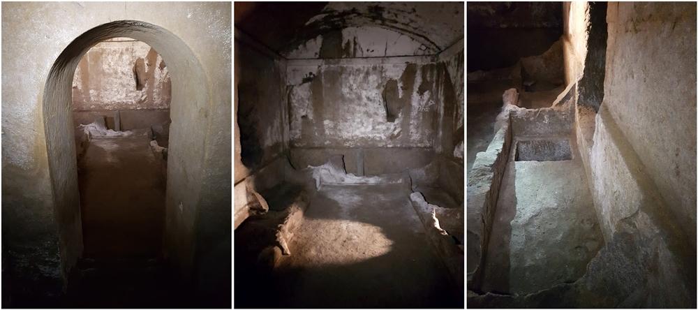 Scorci dell'ipogeo funerario ellenistico di Vico Traetta, Napoli - Image courtesy of Marco Placidi ©