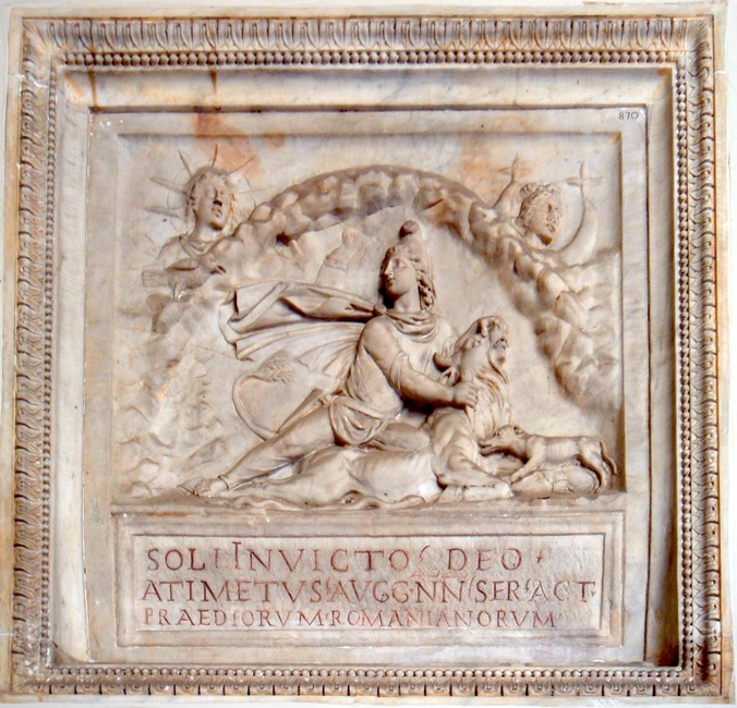 Rilievo in marmo col dio solare Mithra, Musei Vaticani