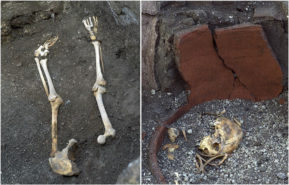 Resti di ossa umane, thermopolium, Pompei - Ph. © Luigi Spina