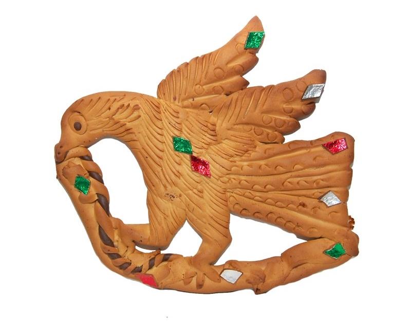 Mostacciolo di Soriano Calabro in forma di aquila che divora un serpente - Image by Alessandria/Soriano