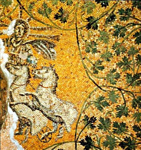 Cristo come Sol Invictus in un mosaico pavimentale del II-IV sec. nella Necropoli vaticana sotto la Basilica di S. Pietro, Roma
