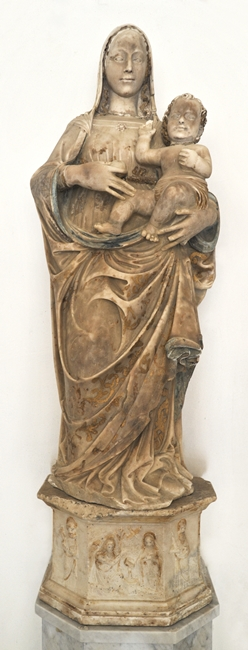 Giovan Battista Mazzone, Madonna con Bambino, chiesa di Santa Croce a Castell'Umberto (Messina)