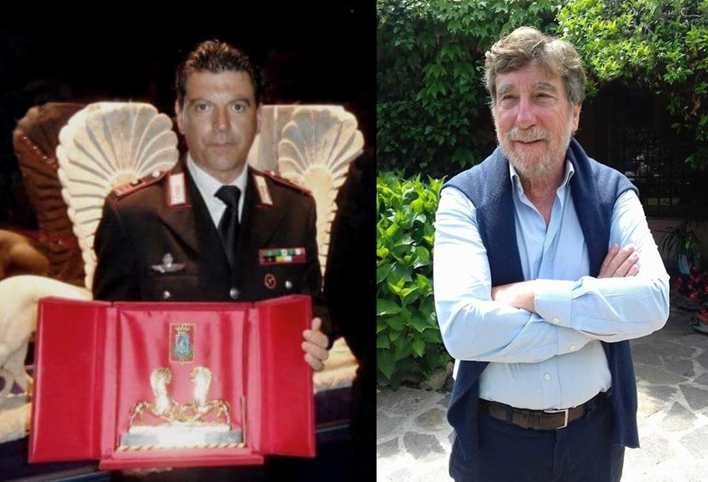 Il maresciallo dei Carabinieri Roberto Lai, premiato con i Grifoni d'Oro, e il pm Paolo Giorgio Ferri