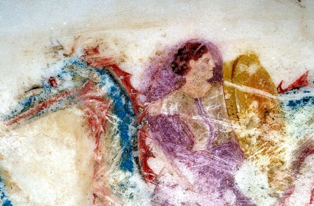 Part. della decorazione pittorica del podanipter - Image by Polo Museale Ascoli Satriano