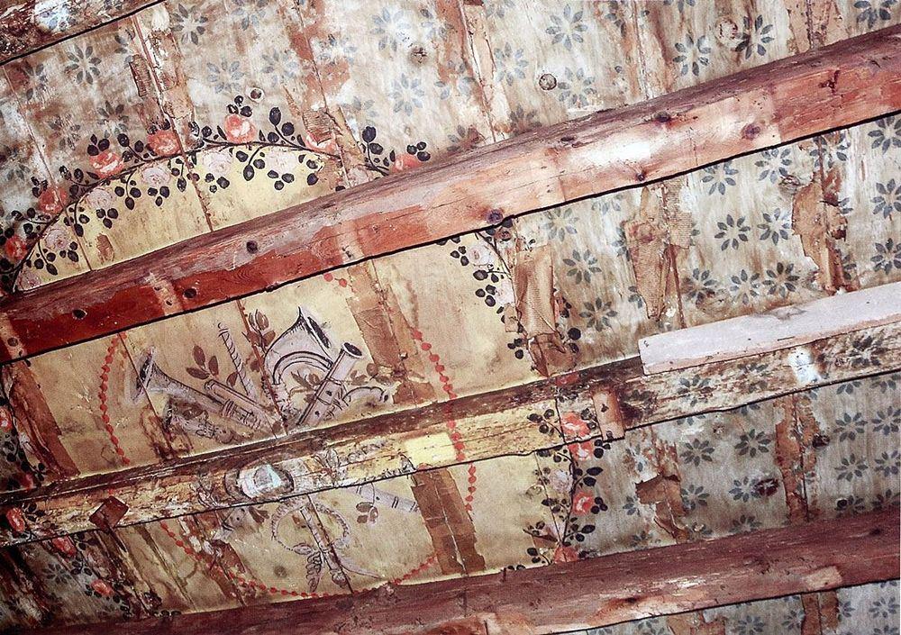 Palazzo Salituri alla Giudeca, altro part. della decorazione di un soffitto
