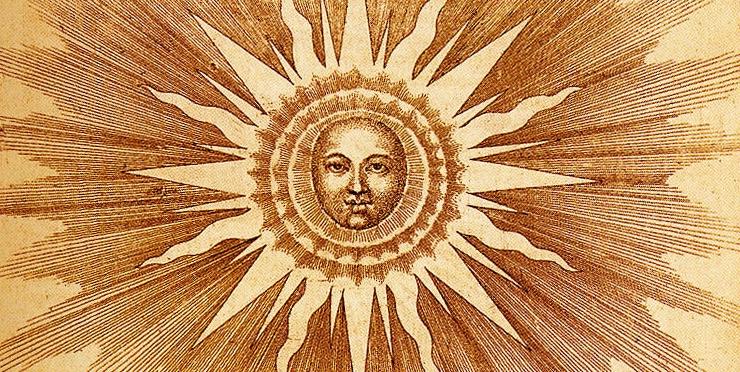 Il sole divinizzato in una antica incisione