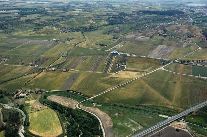 Veduta aerea della Valle del Carapelle - Image by Università di Foggia