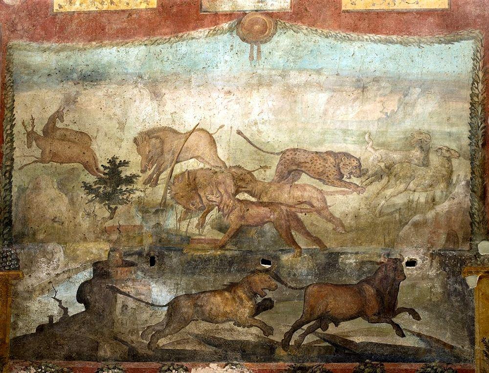 Affresco della Caccia, Casa dei Ceii, I sec. d.C., Pompei - Ph. © Luigi Spina