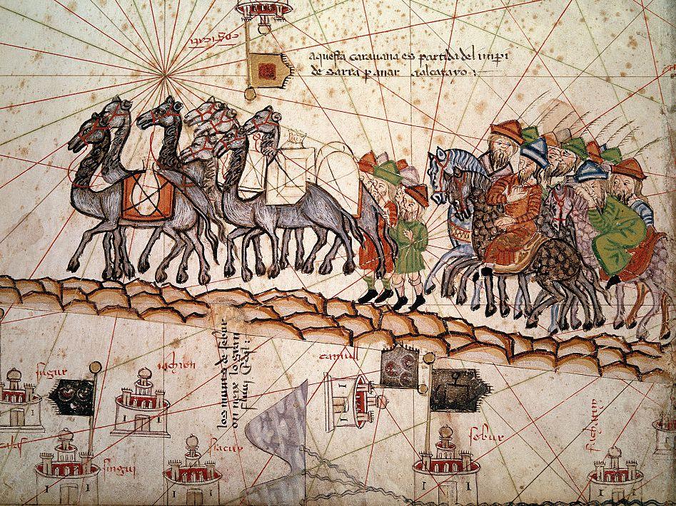 La Via della Seta nella illustrazione di un codice medievale