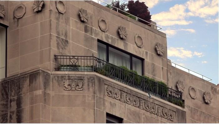 Part. di alcune terrazze del 740 Park Avenue, NY