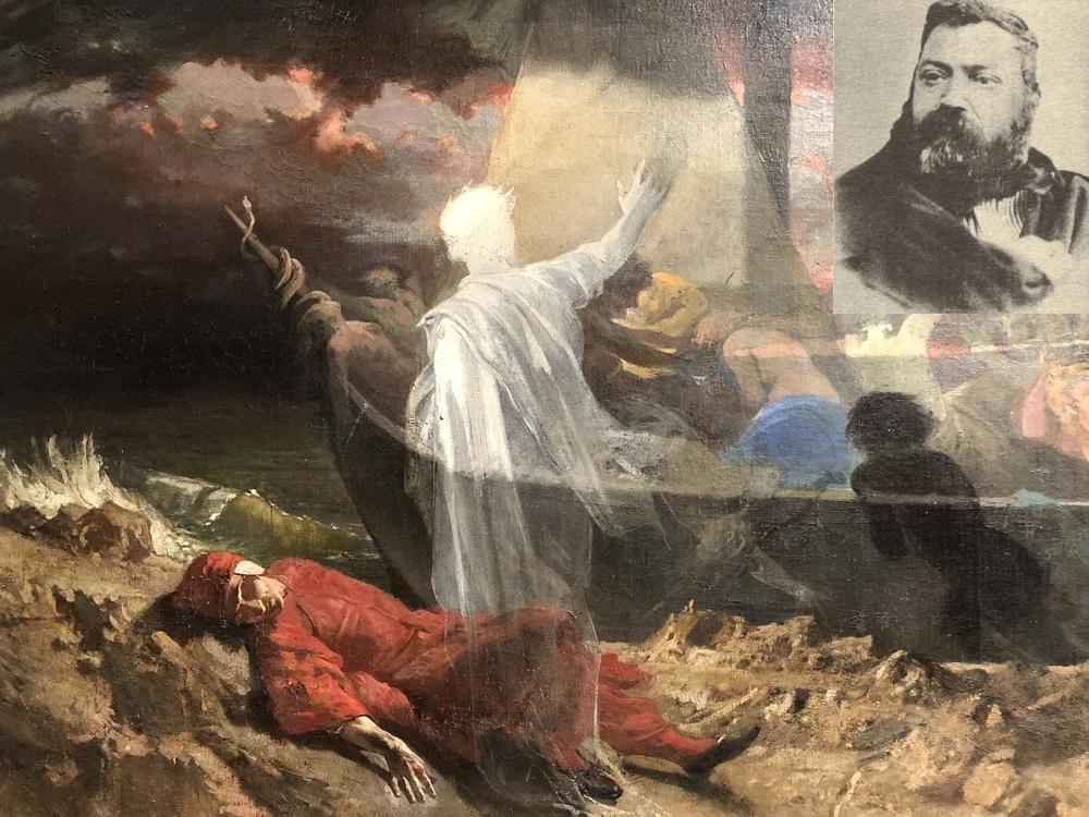 Andrea Cefaly, Dante, Virgilio e la nave di Caronte, olio su tela, 1876, Museo MARCA, Catanzaro