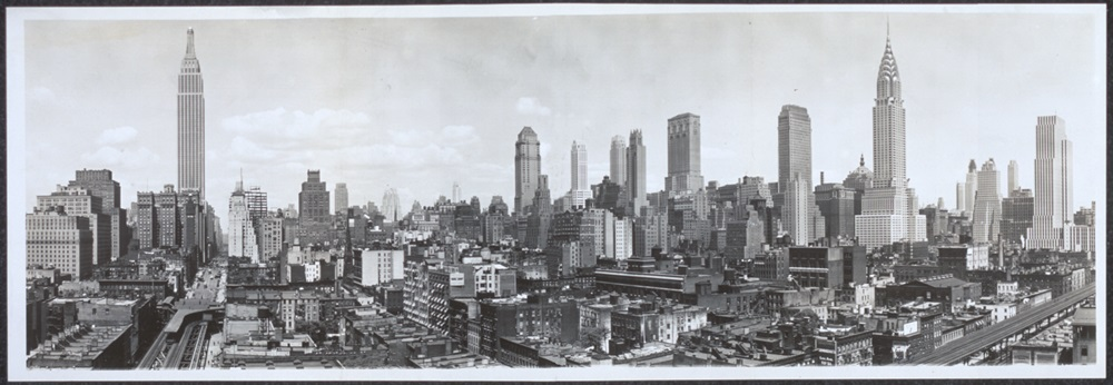 Skyline di New York nel 1931 - Ph. William Frange / Library of Congress