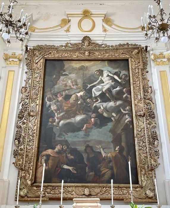 Mattia Preti, Patrocinio di Santa Barbara, olio su tela, altare maggiore chiesa di S. Barbara