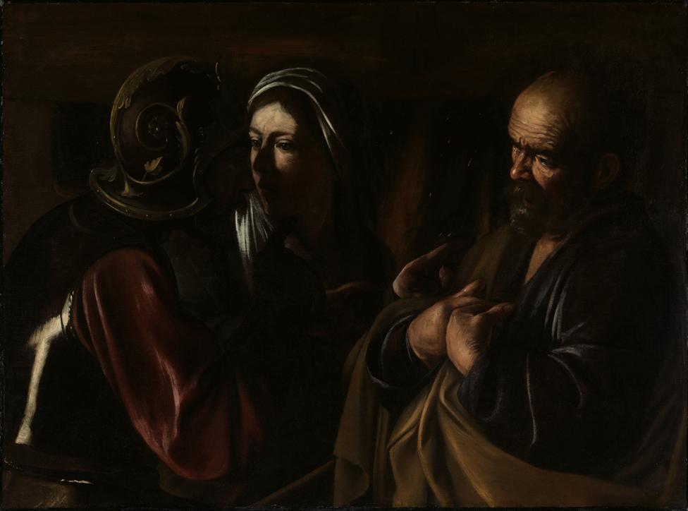 Michelangelo Merisi da Caravaggio, Negazione di Pietro, olio su tela, 1610, Metropolitan Museum, NY