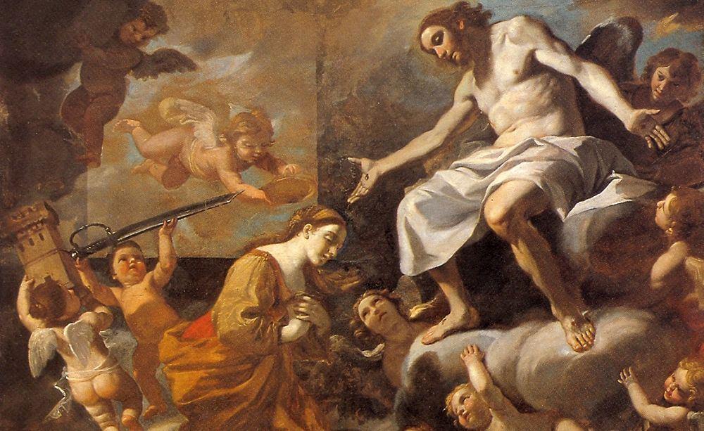 Mattia Preti, Patrocinio di Santa Barbara, olio su tela, c. 1680, Chiesa di S. Barbara, Taverna (Cz)