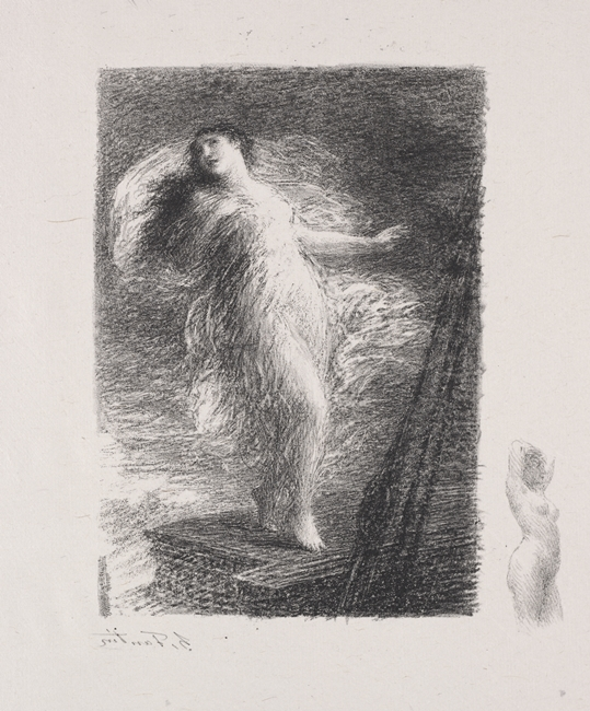 Henri Fantin-Latour, La Jeune Tarantine, incisione, 1921, Cleveland Museum of Art