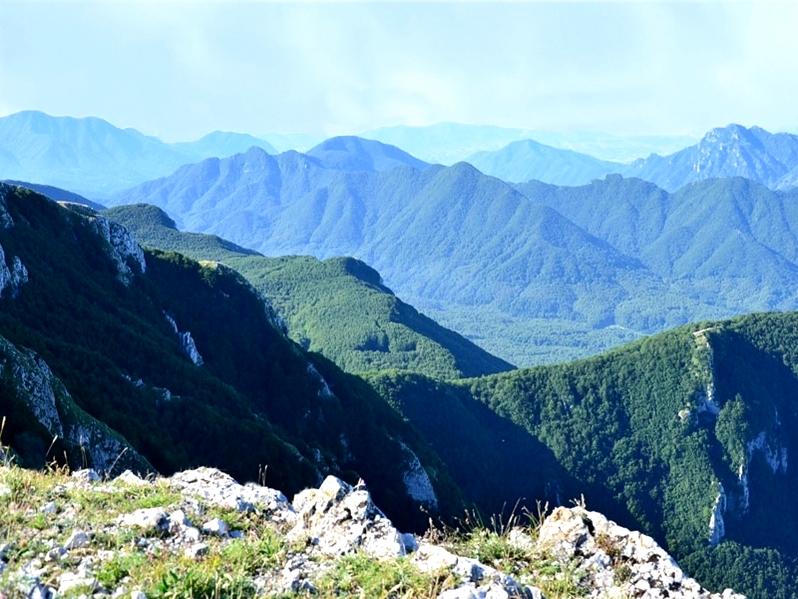 Scorcio dei Monti Picentini, nell'Appennino campano