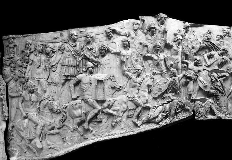 Sena di battaglia tratta dalla Colonna Traiana, Roma