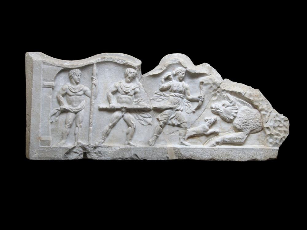 pluteo con caccia di Meleagro ed Atalanta II sec. d.C - Anfiteatro Campano, Santa Maria Capua Vetere