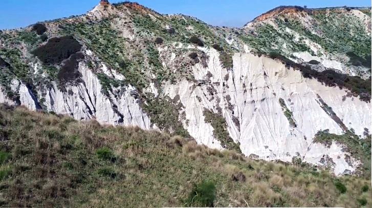 Scorcio dei calanchi in località La Vrica, Crotone