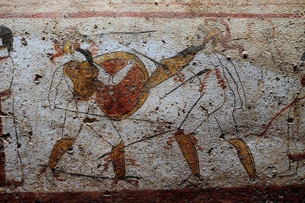 Lastra dipinta dalla necropoli del Gaudo, Paestum - Ph. Mario Laporta