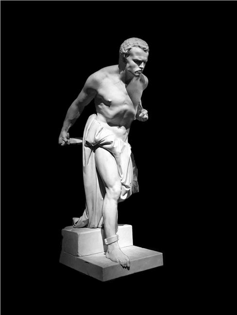 Vincenzo Vela, Spartaco, marmo, 1848, Museo Vela, Mendrisio (Canton Ticino, CH)