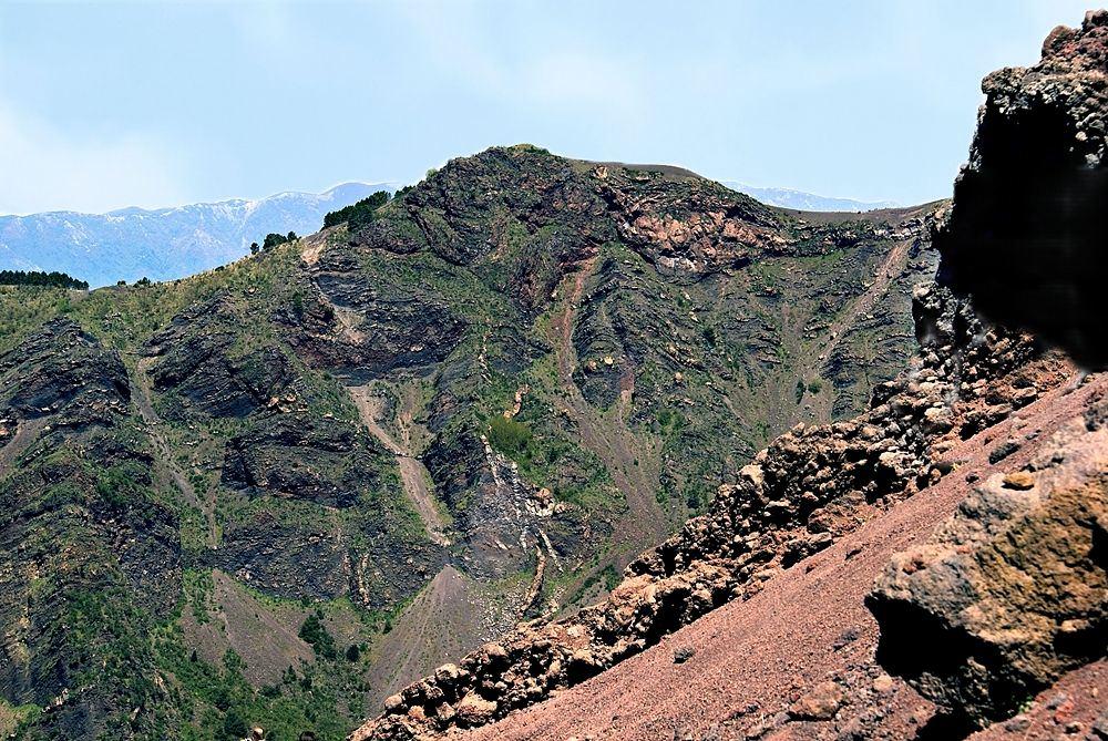 Vesuvio, scorcio del cratere