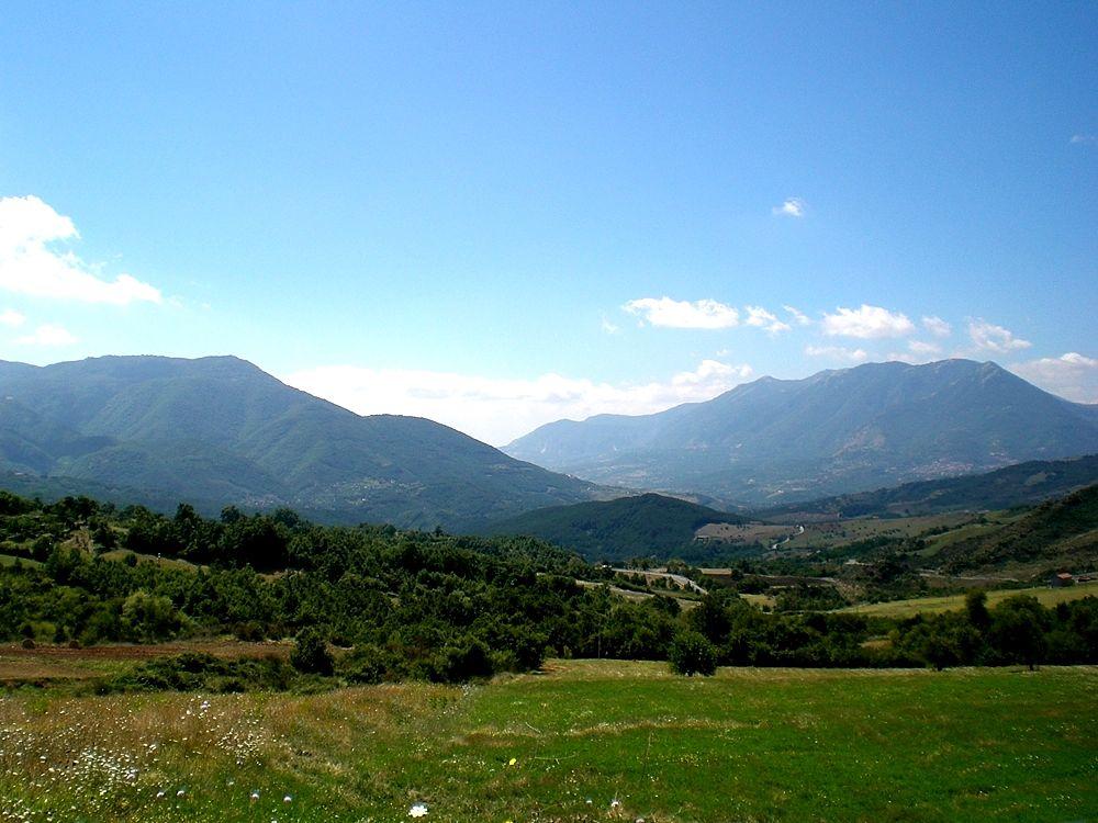 Scorcio dell'Alta Valle del Sele, teatro della battaglia finale - Image source