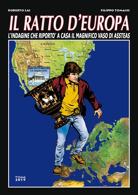 Copertina del fumetto dedicato al vaso di Assteas