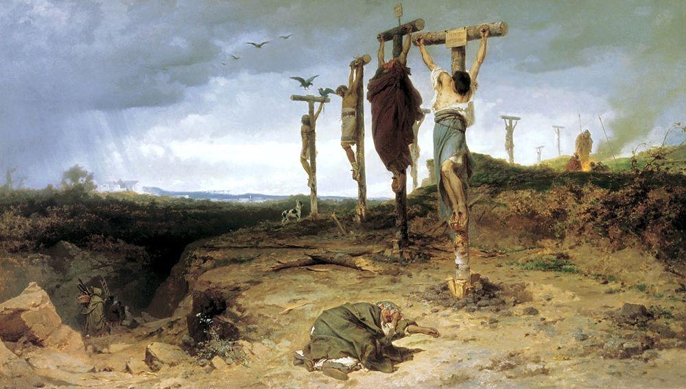 Fedor A. Bronnikov, Crocifissione degli schiavi, 1878, Tretyakov Gallery, Mosca