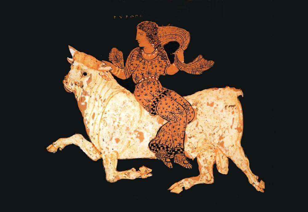 Part. del vaso di Assteas con il ratto di Europa, IV° sec. a.C. – Museo Archeologico del Sannio Caudino, Montesarchio (Bn)