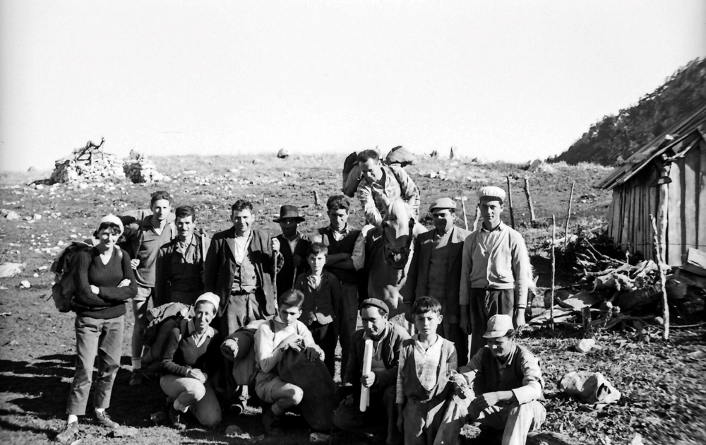Gli esploratori del Gruppo Speleologico Piemontese che nel 1961 discesero nel Bifurto