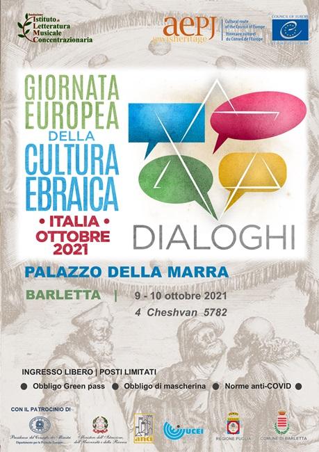 Giornata Europea della Cultura Ebraica, Barletta 2021