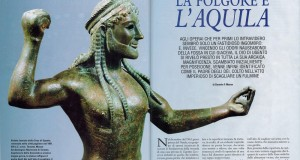 La rivista Archeo dedica un servizio speciale allo Zeus di Ugento, capolavoro in bronzo del VI° secolo a.C.