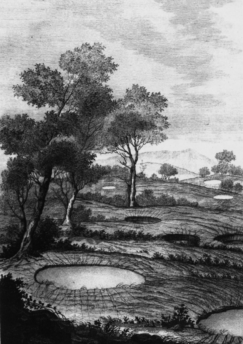 Circular_settlement_of_sandy_deposits_in_the_Rosarno_Plain_(from_an_original_etching_in_Sarconi,_1784)_-_1783_Calabrian_earthquake