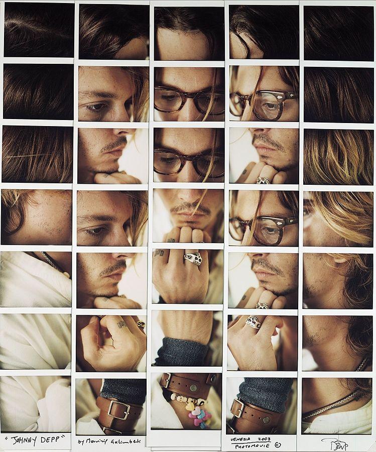 L'attore Johnny Depp visto da Maurizio Galimberti