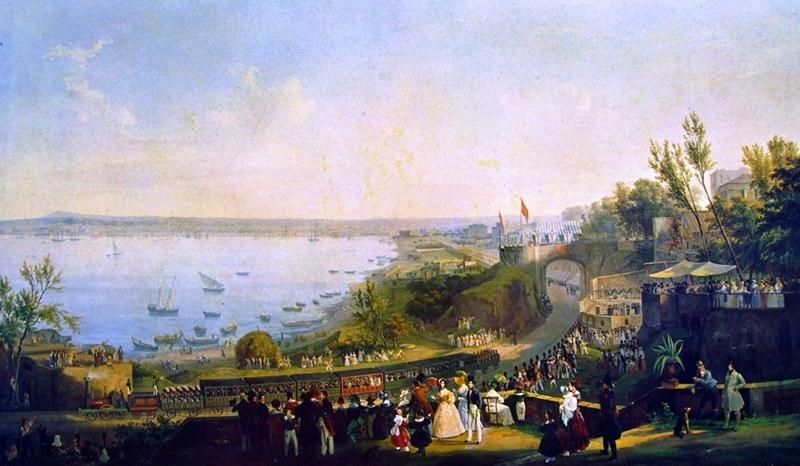 Fergola,_Salvatore_The_Inauguration_of_the_Naples_-_Portici_Railway,_1840