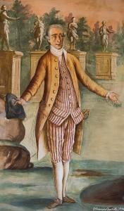 Francesco III Caracciolo, XI° duca di Martina Franca, XVIII sec., part. di affresco, Palazzo Ducale, Martina Franca – Ph. © Ferruccio Cornicello