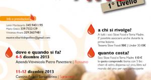 A Rossano e Saracena Master of Food di 1° Livello dedicato alla conoscenza del Vino