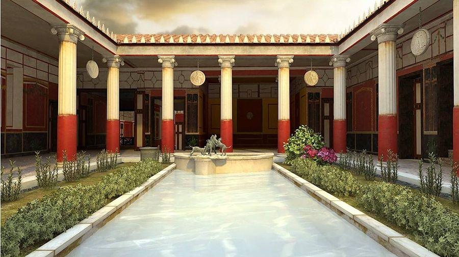 Campania - Ricostruzione visrtuale della Casa del Citarista, MAV (Museo Archeologivo Virtuale) di Ercolano (Napoli)