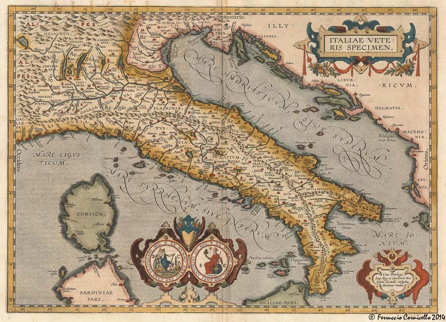 Mappa Dellitalia Antica.L Italia Antica Di Jan Moretus Del 1601 Genesi E Sviluppo Tra Cartografia Storia Arte E Potere Persuasivo Delle Immagini