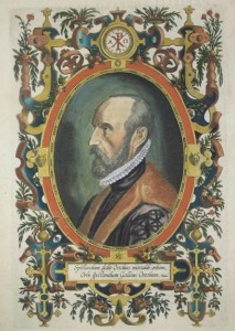 Abraham Ortelius in una incisione di Philippe Galle