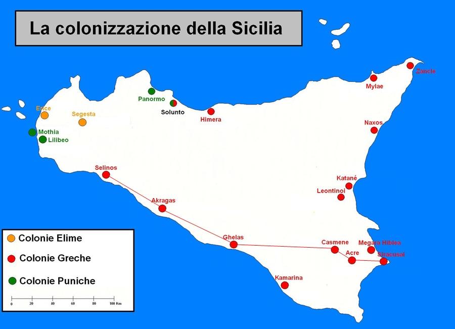 Ricostruzione grafica del tragitto seguito dalla Via Selinuntina fra Siracusa e Selinunte