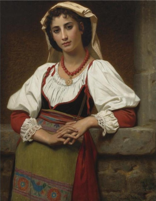 The_Neapolitan_Girl_(1876)-_Hugues_Merle_(1823-1881)