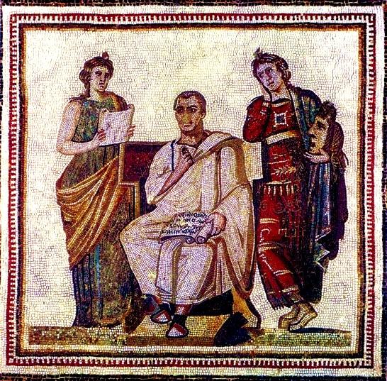 Virgilio e le Muse - mosaico