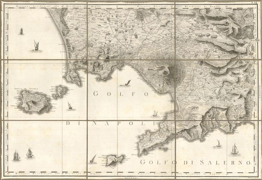 Foglio n.14 dell'Atlante Geografico del Regno di Napoli - Image: courtesy of Sergio Trippini Stampe Antiche