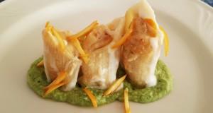 Ricette d'Autore | Pennoni ripieni di patata silana e salsiccia fresca locale su crema di rape e bucce di arance