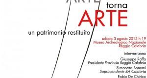 Arte torna Arte: in mostra a Reggio Calabria un patrimonio di opere sottratte alla mafia